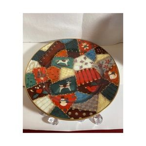 Fitz and Floyd CHRISTMAS QUILT plate